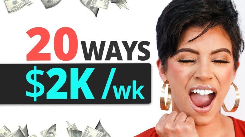 ($2000/week) 20 LAZY Ways To Start Making Money in 2021 - Marissa Romero