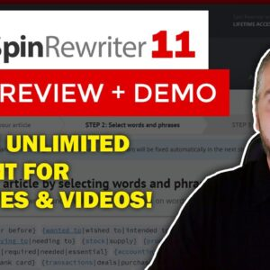 Spin Rewriter 11 Review & Demo: Spin Rewriter Article Spinner Tutorial [2020]