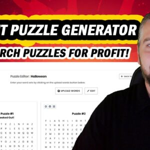 Instant Puzzle Generator Review: Make Money With Wordsearch Puzzles