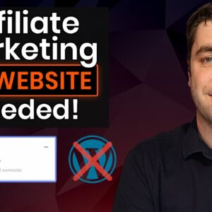 Fastest Way To Make Money Online As An Affiliate For Beginners (NO WEBSITE)