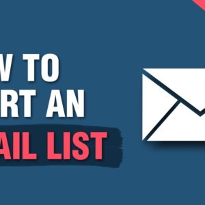 How To Start an Email List - Building an Email Newsletter in 2020