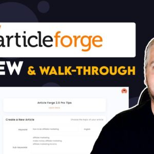 Article Forge Review and Tutorial   Example Articles