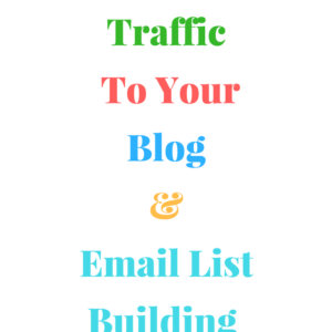 Driving Traffic to Your Blog and Email List Building Strategies
